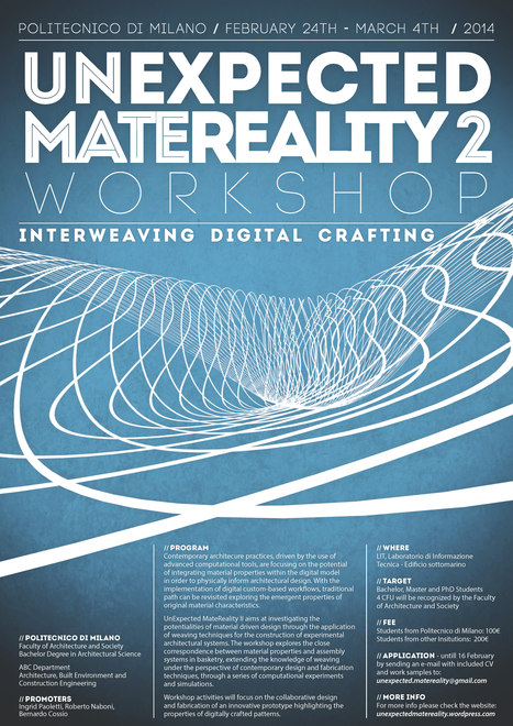 UnExpected MateReality II - Workshop | Computational Art and Architecture | Scoop.it