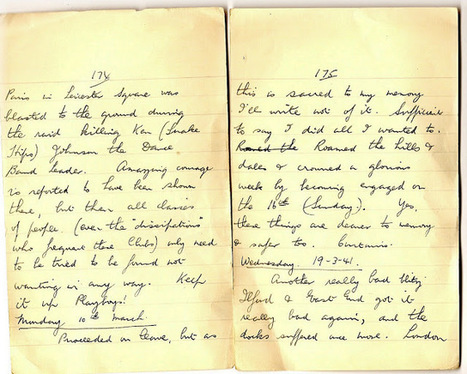 London War Diary: Monday 10th March and Wednesday 19th March 1941   London War Diary. Original written pages. 1940   Scoop.it