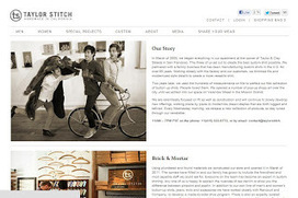 Taylor Stitch: An 'About Us' Web Page Review by CorporateHistory.net | Just Story It Biz Storytelling | Scoop.it