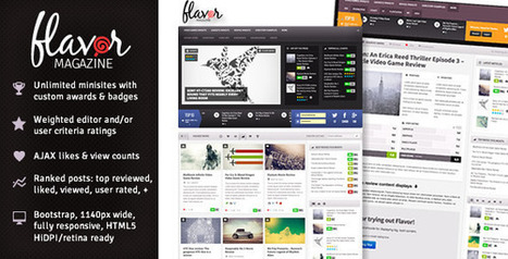 Flavor - Responsive/HD Magazine/Review AJAX Theme Download | Who is John Galt? | Scoop.it