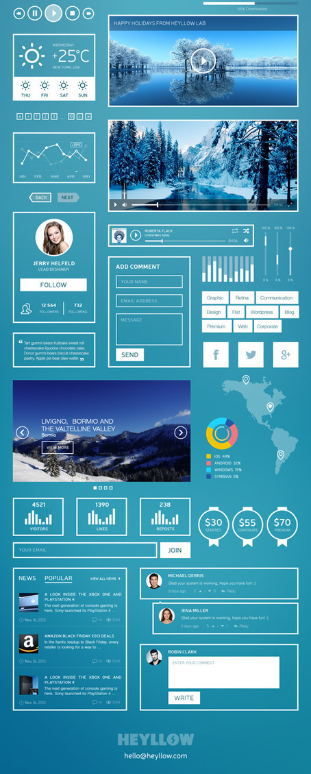 Free UI kit for fans of super-minimal   Web design   Creative Bloq   Web Design & Dev   Scoop.it