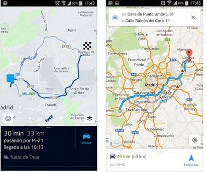 HERE Maps frente a Google Maps, la batalla de los mapas se endurece en Android | Geografia 2.0 | Scoop.it