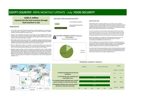 Egypt Country: RRP6 Monthly Update - July 2014: Food Security | Agriculture and Farming | Scoop.it