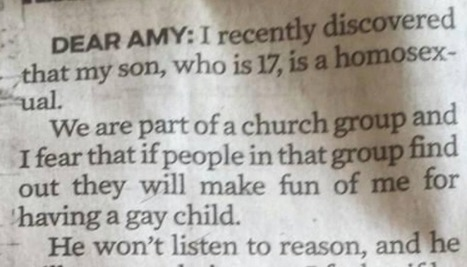 ​Read The Witty Suggestion An Advice Columnist Gives To A Homophobic Parent | Humanity | Scoop.it