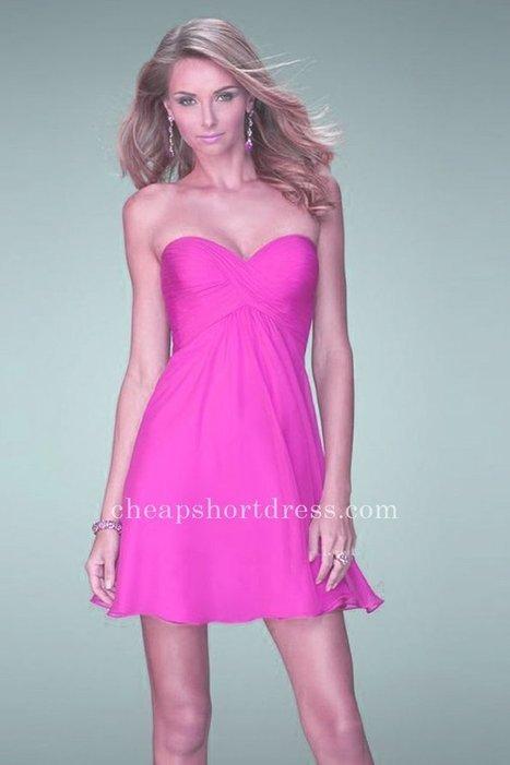 2015 Strapless Sweetheart La Femme 22098 Magenta Chiffon Homecoming Dresses [La Femme 22098] - $159.00 : Short dresses | Homecoming Dresses | Short Bridesmaid Dresses | Cocktail Dresses | Prom & Homecoming Dresses | Scoop.it