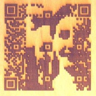Laser cut QR code portraits by Cait Willis | QRdressCode | Scoop.it