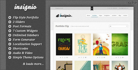 Insignio - Flip Creative Portfolio Wordpress Theme | Premium Wordpress Themes | Scoop.it