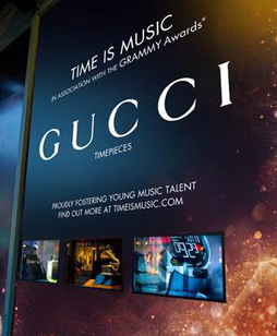 Gucci showcasing Grammy watches with Samsung transparent digital signage | Luxury Advertising | Scoop.it