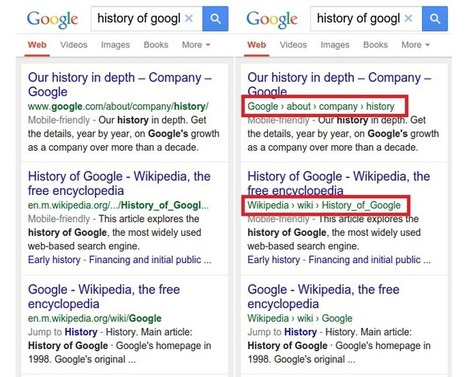 Google modifie la structure des URL affichées dans les résultats de recherche mobile | Communication - Marketing - Web | Scoop.it