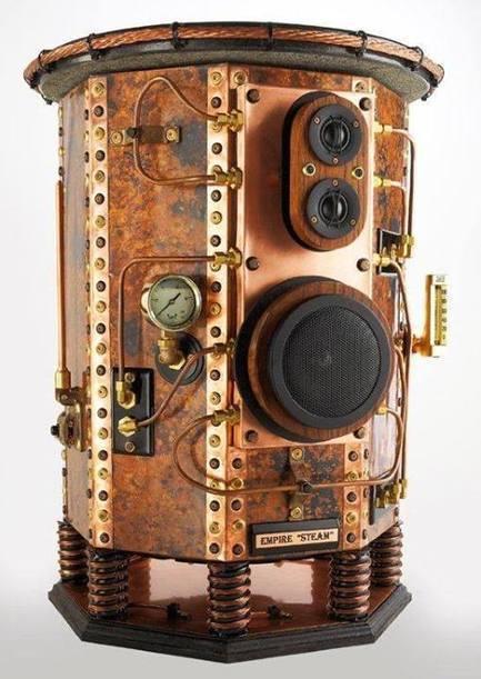 Steampunk Tendencies     Empire Steam Speakers by by Air hammer Industries   Just Put Some Gears on It   Scoop.it