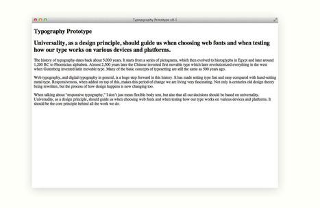 Prototyping Responsive Typography | Paperpixel Web dev | Scoop.it
