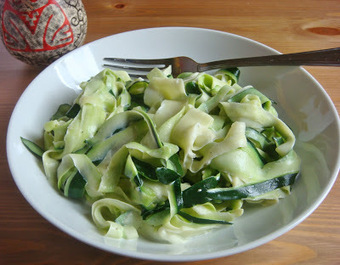 "That Gluten Free Girl: Vegan Zucchini ""Fettucine"" Alfredo 