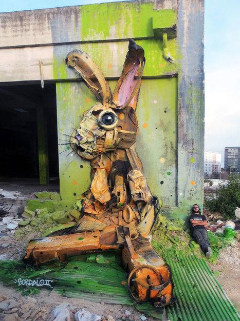 Cet artiste offre une seconde vie aux déchets en les transformant en de gigantesques animaux colorés | Recyclage et récupération | Scoop.it