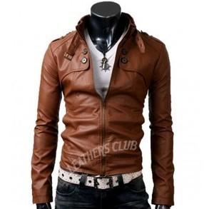 Button Pocket Slim Fit Rider Brown Jacket - Halloween Jackets | Halloween Jackets | Scoop.it