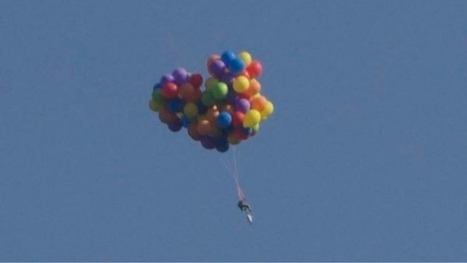 Man arrested after flying over city in balloon chair | Quite Interesting News | Scoop.it