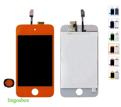 New Genuine Orange iPod Touch 4 4G LCD+Touch Screen Panel Digitizer Assembly+Home Bottom | hot deals on lingosbox | Scoop.it