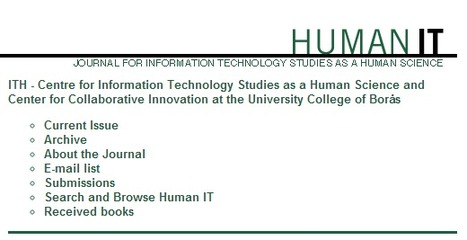 Human IT - journal for information technology studies as a human science | Working and Living in Virtual Worlds | Scoop.it