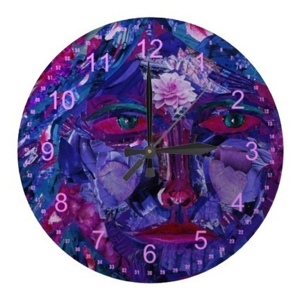 Sight – Abstract Magenta & Violet Inner Vision Round Wallclock from Zazzle.com | Fine Art to Love | Scoop.it