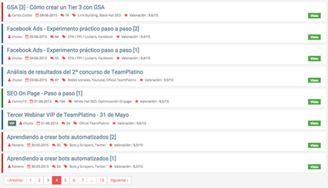 El mejor curso de SEO y monetización: Teamplatino | Cursos formación online | Scoop.it
