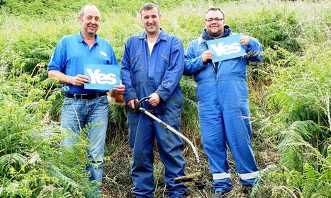 Scottish independence supporters carve 25-metre 'yes' into hillside | Scotland | Scoop.it