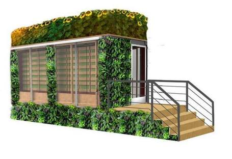 the outside of the Mini-Farmery and its trailer will be covered in living walls! | Vertical Farm - Food Factory | Scoop.it