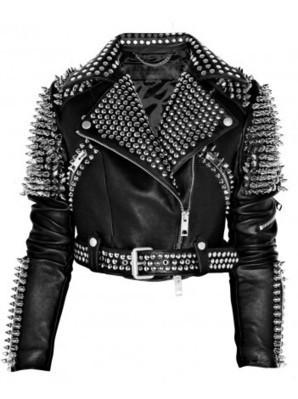 Britney Spears Black Spiked Studded Leather Jacket | Women's Jackets | Scoop.it