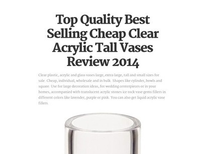 Top Quality Best Selling Cheap Clear Acrylic Tall Vases Review 2014 | winter | Scoop.it