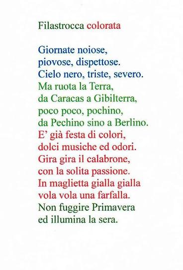 FILASTROCCA DI PRIMAVERA - Didattica Scuola Primaria   Dida   Scoop.it