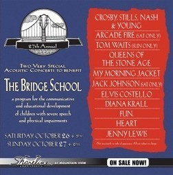 The 27th Annual Bridge School Benefit Concert | Actualitat Musica | Scoop.it