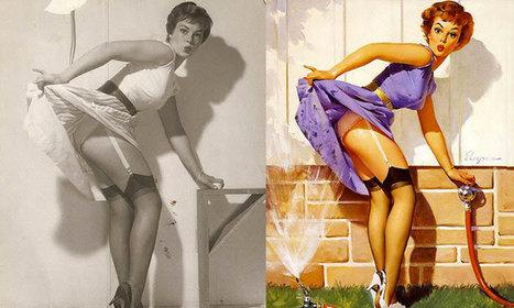Avant/Après : les photographies originales des années 50 qui ont inspiré les célèbres illustrations de pin-ups | Kelly&Emma | Scoop.it