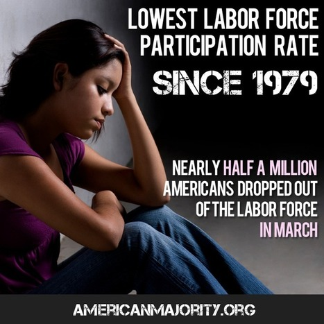 Lowest Labor Participation rate since 1979 | Littlebytesnews Current Events | Scoop.it