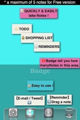 [iPhone][iPad][無料] 簡単便利ふせんメモ - Badge Sticky Notes FREE- | | I pod touchデジアナ手帖 | Scoop.it