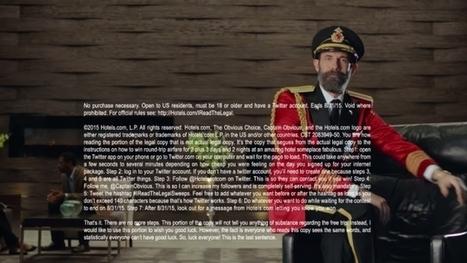 Hotels.com Buried a Giveaway in the Fine Print of a TV Ad to Reward People Who Paused It | ALBERTO CORRERA - QUADRI E DIRIGENTI TURISMO IN ITALIA | Scoop.it