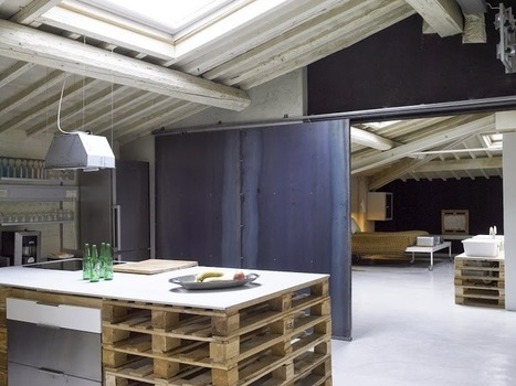 Eco recyclage pour ce loft decodesign d eacut for Meuble loft pas cher