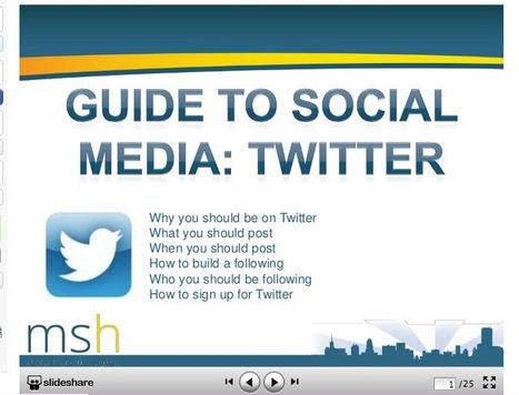 Guide to Social Media: Twitter [SLIDESHARE] - Business 2 Community | ULTA | Scoop.it