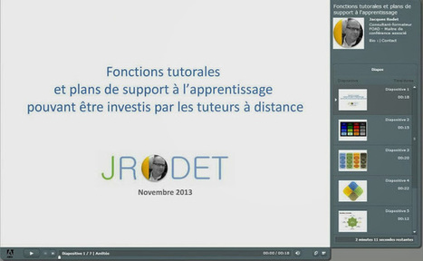Fonctions tutorales et plans de support à l'apprentissage | XPERTEAM | Scoop.it