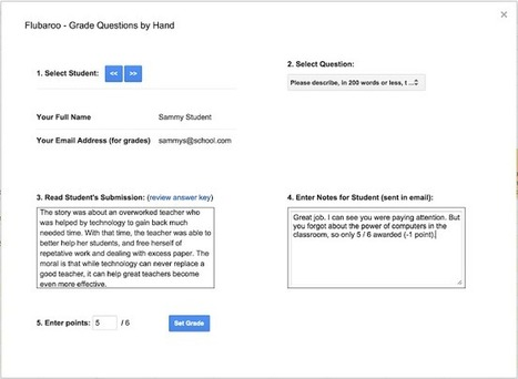 Google and Flubaroo - automate feedback / grading | Moodle and Web 2.0 | Scoop.it