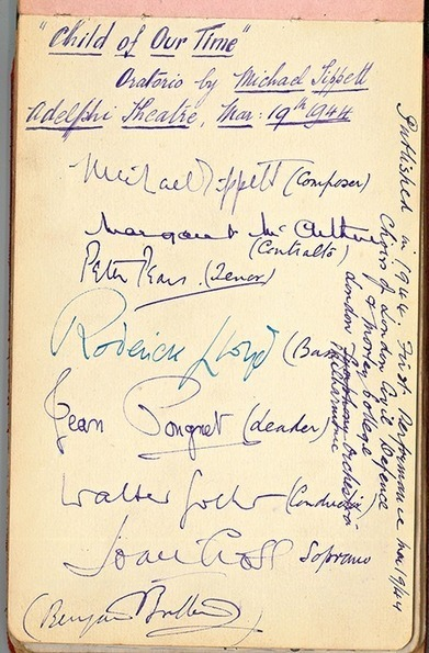 Tippett's Child of our Time - and an extraordinary collection of signatures | Classical and digital music news | Scoop.it