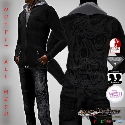 Man Skull Outfit Group Gift by *Arcane Spellcaster* Ak-Creations | Teleport Hub - Second Life Freebies | Second Life Freebies | Scoop.it