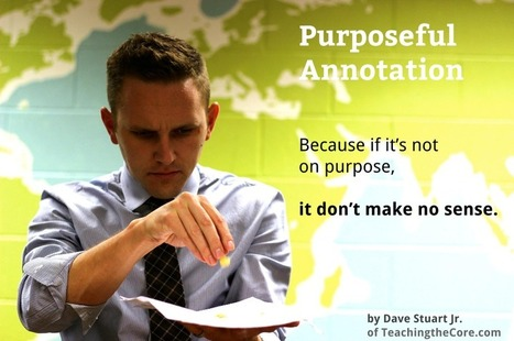 "Purposeful Annotation: A ""Close Reading"" Strategy that Makes Sense 