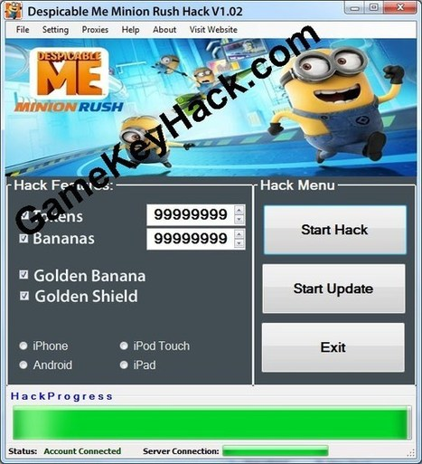 Minion Rush Gift Codes Cheats Tool v 1.02 - Game Key Hacks | Facebook Game Hacks | Scoop.it