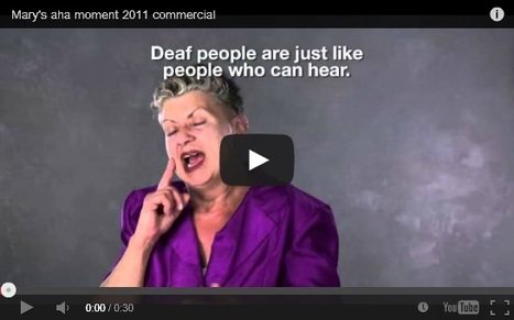 Deaf woman in commercial ads for Insurance | Differently Abled and Our Glorious Gadgets | Scoop.it