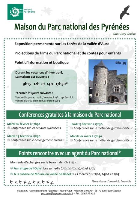 Animations à la Maison du Parc national des Pyrénées de Saint-Lary pour les vacances de février | Vallée d'Aure - Pyrénées | Scoop.it