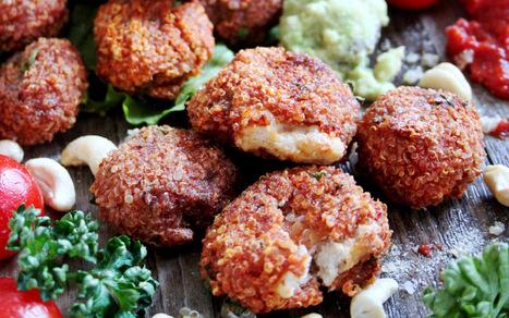 Mozzarella-Stuffed Quinoa Pizza Bites [Vegan] | Vegan Food | Scoop.it