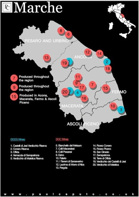 DOC and DOCG Wine Map of Marche | Vinitours | Scoop.it