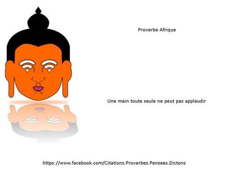 Proverbe Afrique : une main tout seule ne peut pas applaudir. on Twitpic | bambou148 | Scoop.it