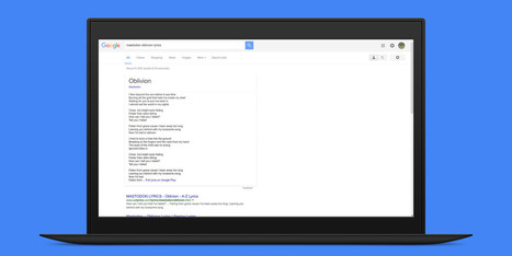 Google is now the best search engine for song lyrics | Nerd Vittles Daily Dump | Scoop.it