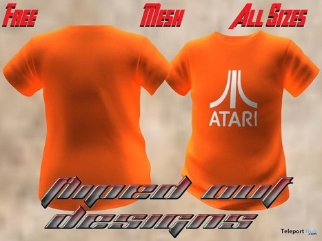 Atari Orange T-Shirt by Fliped Out Designs | Teleport Hub - Second Life Freebies | Second Life Freebies | Scoop.it