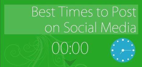 Infographie:les meilleurs moments pour publier sur les réseaux sociaux | community management | Scoop.it
