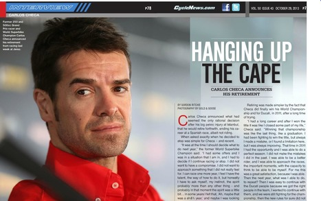 Interview: Carlos Checa - Hanging Up The Cape | Ductalk Ducati News | Scoop.it